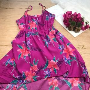 Cotton On Pink Floral High Low Dress #527
